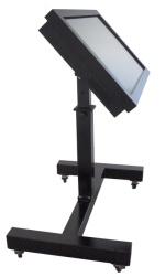 Supporto Display / Panel PC con ruote regolabile Altezza e Inclinazione